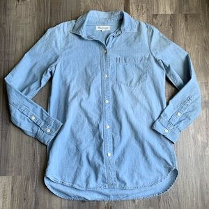 Madewell Chambray Ex-boyfriend Button Up Shirt XS
